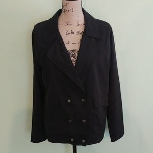 MINE BLACK DOUBLE BREASTED LIGHT JACKET SIZE SM